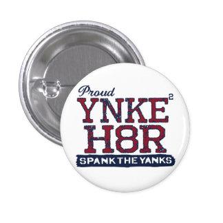 Anti-Yanqui de YNKEE H8R Pin Redondo De 1 Pulgada