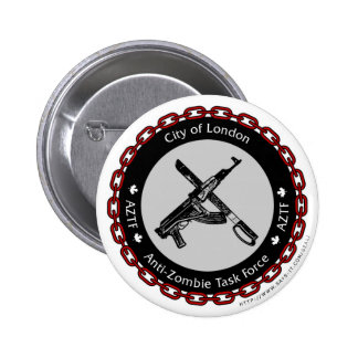 Anti-Zombie Task Force Pinback Button
