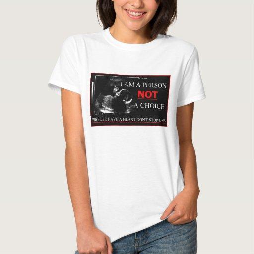 Antiabortista tenga un corazón no paran una camisa