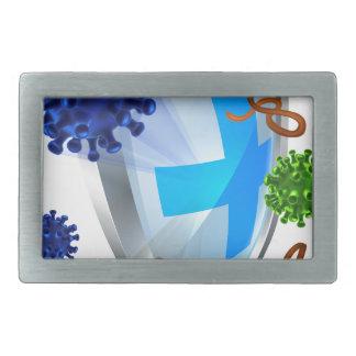 Antibacterial or Anti Virus Shield Belt Buckle