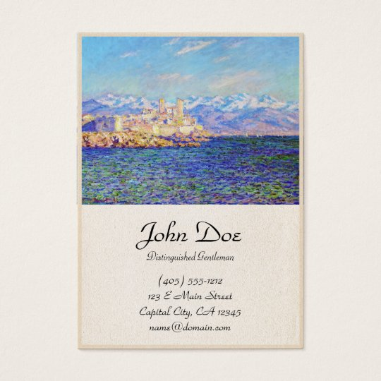 Antibes, Afternoon Effect, 1888 Claude Monet cool, Business Card