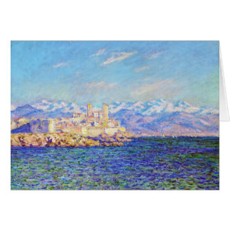Antibes, Afternoon Effect, 1888 Claude Monet cool, Card