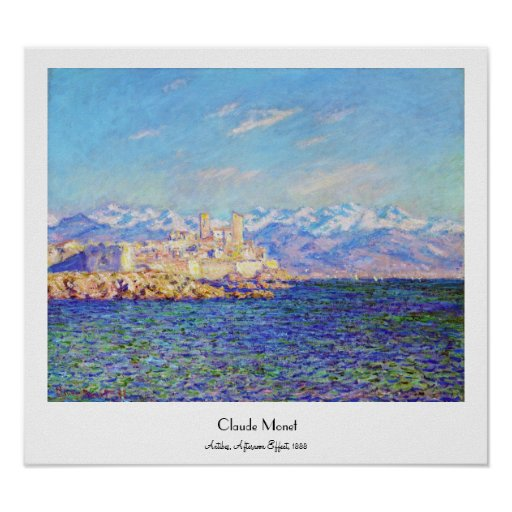 Antibes, Afternoon Effect, 1888 Claude Monet cool, Poster