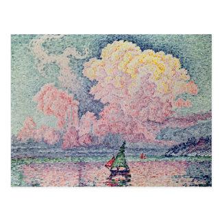 Antibes, Cloud rosada, 1916 Postales