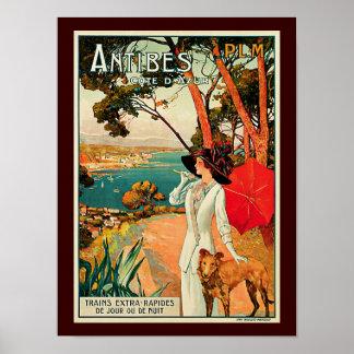 Antibes Cote D'Azur Poster