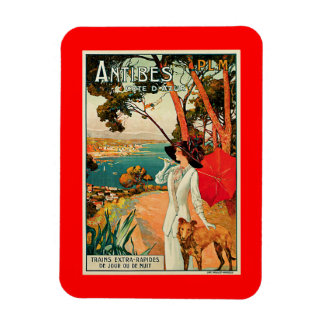 Antibes Cote d'Azur Rectangle Magnets