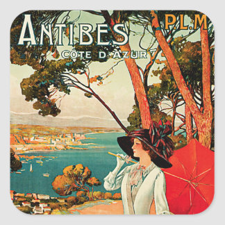 Antibes Cote D'Azur Square Sticker