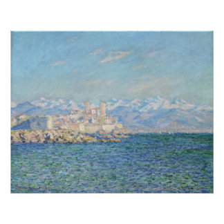 Antibes, efecto de la tarde - Claude Monet Poster