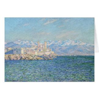 Antibes efecto de la tarde - Claude Monet Felicitacion