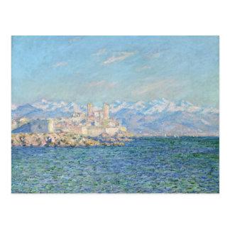 Antibes efecto de la tarde - Claude Monet Tarjetas Postales