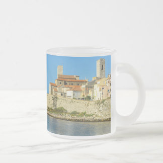 Antibes France Frosted Glass Coffee Mug