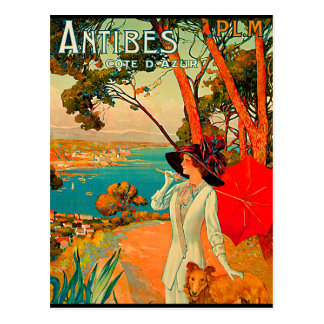 Antibes France Vintage Poster Postcard