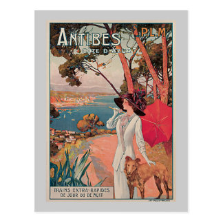 Antibes, France Vintage Travel Advertisement Post Card