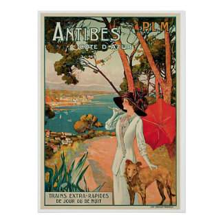 Antibes France Vintage Travel Advertisement Posters