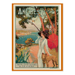 """Antibes, France"" Vintage Travel Post Card"