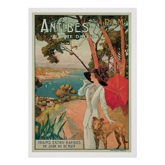 Antibes France Vintage Travel Posters