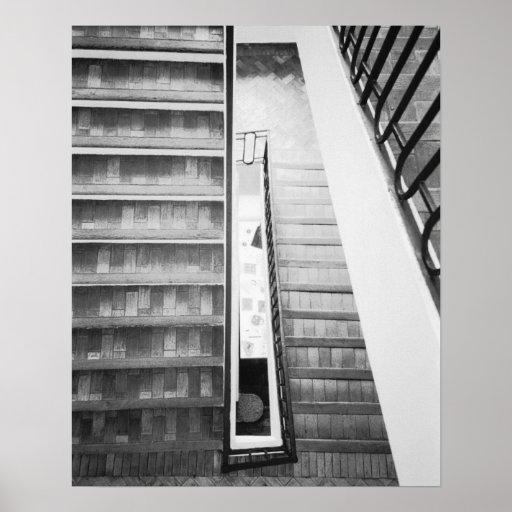 Antibes Francia, museo de Picasso de las escaleras Impresiones