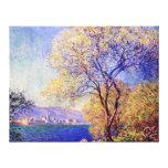 Antibes, por Claude Monet Impresión De Lienzo