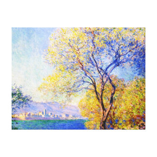 Antibes Seen from the Salis Gardens Claude Monet Canvas Print