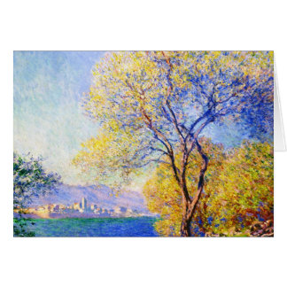 Antibes Seen from the Salis Gardens Claude Monet Stationery Note Card