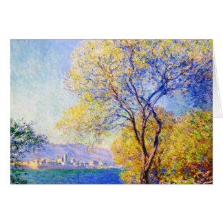 Antibes Seen from the Salis Gardens Claude Monet Card