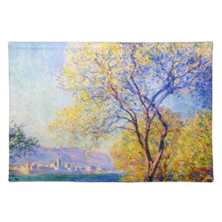 Antibes Seen from the Salis Gardens Claude Monet Cloth Placemat