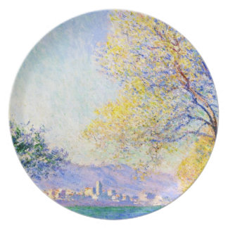 Antibes Seen from the Salis Gardens Claude Monet Melamine Plate