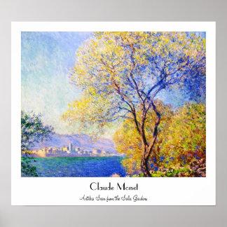 Antibes Seen from the Salis Gardens Claude Monet Poster