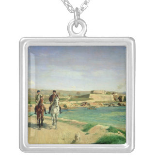 Antibes, the Horse Ride, 1868 Silver Plated Necklace