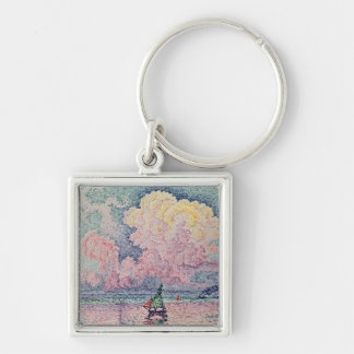 Antibes, the Pink Cloud, 1916 Silver-Colored Square Keychain