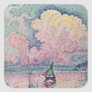 Antibes, the Pink Cloud, 1916 Square Sticker