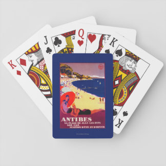 Antibes Vintage PosterEurope Playing Cards