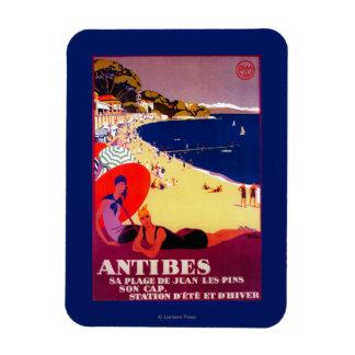 Antibes Vintage PosterEurope Rectangular Photo Magnet