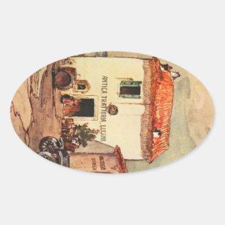 Antica Trattoria Lucana - A Wayside Trattoria Oval Sticker
