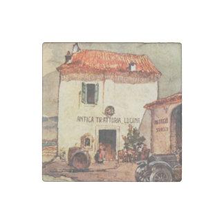 Antica Trattoria Lucana - A Wayside Trattoria Stone Magnet