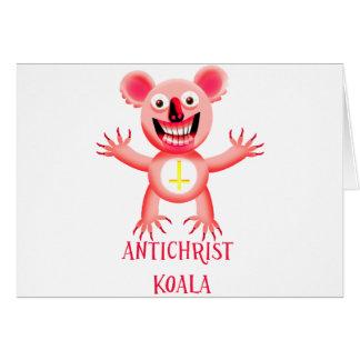 ANTICHRIST KOALA CARD