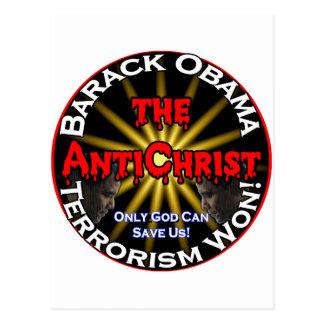 AntiChrist Obama God Postcard