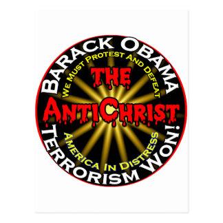 AntiChristObamaDefeat Postcard