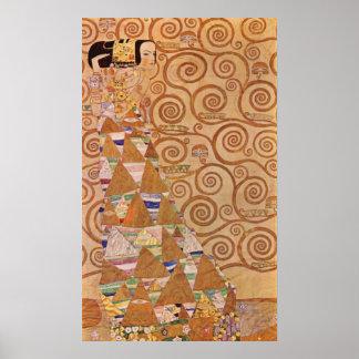 Anticipación de Gustavo Klimt Poster