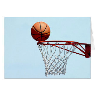 Anticipación del baloncesto tarjeta de felicitación