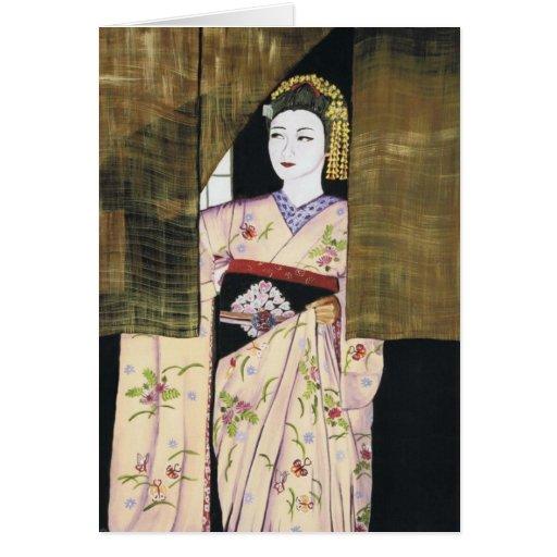 Anticipación - geisha de Maiko Tarjeta De Felicitación