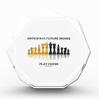 Anticipate Future Moves Play Chess (Chess Set) Acrylic Award