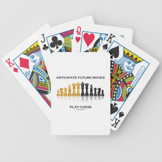 Anticipate Future Moves Play Chess (Chess Set) Bicycle Playing Cards