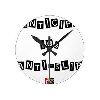 ANTICIPATE the ANTI-SLIP - Word games Round Clock
