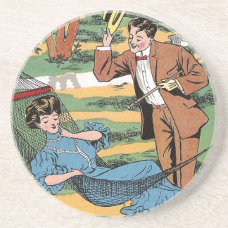 Anticipating Her Reply Coasters