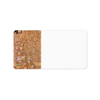 Anticipation by Gustav Klimt Address Label
