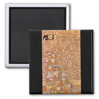 Anticipation by Gustav Klimt Magnets