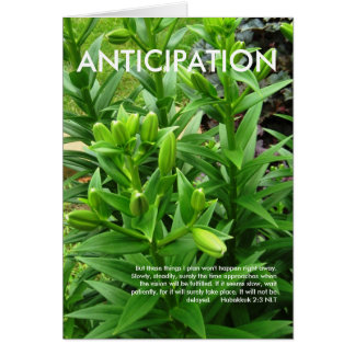 Anticipation Card