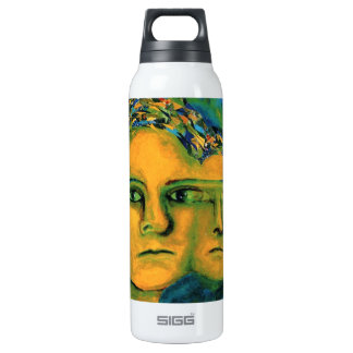Anticipation - Gold and Emerald Goddess 16 Oz Insulated SIGG Thermos Water Bottle