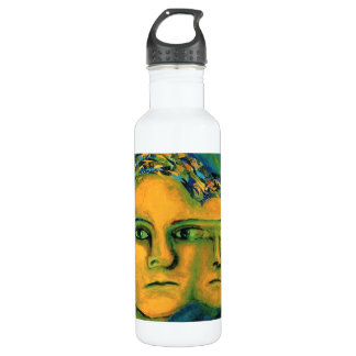 Anticipation - Gold and Emerald Goddess 24oz Water Bottle